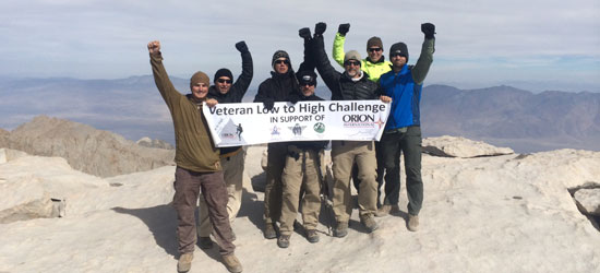 Orion Team at the summit of Mount Whitney, October 2014
