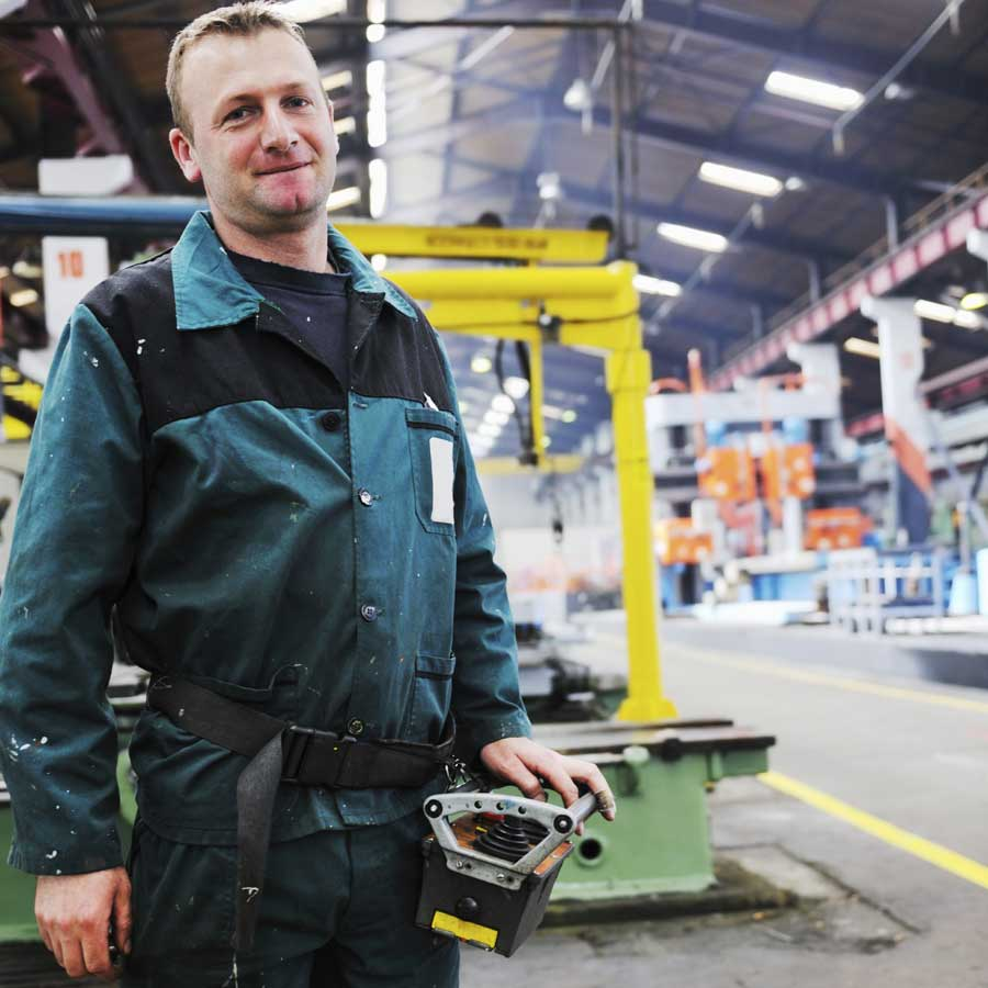 Contract Staffing - Military Veteran Working in a Factory